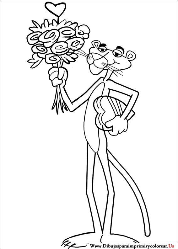 Dibujos de La Pantera Rosa para Imprimir y Colorear | dibujos
