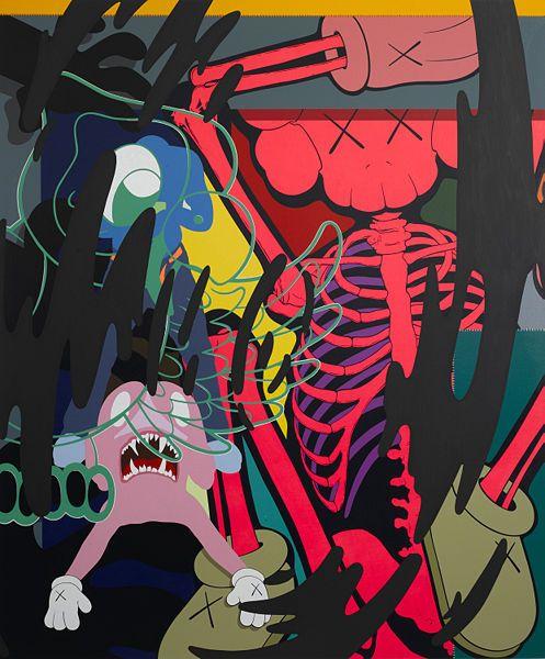 Kaws ( Brian Donelly) Kaws wallpaper, Kaws painting