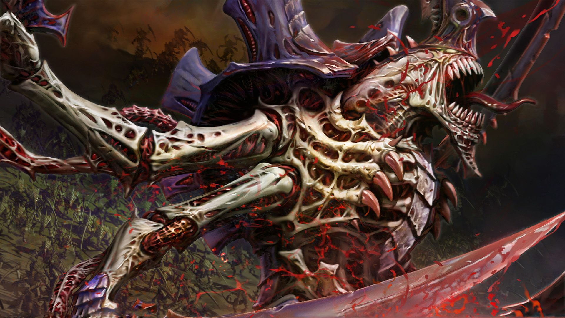 Evil And Darkness Monsters Warhammer 40k Tyranids Hive Tyrant Dark Horror Fantasy Monster Evil Kriegshammer Miniatur