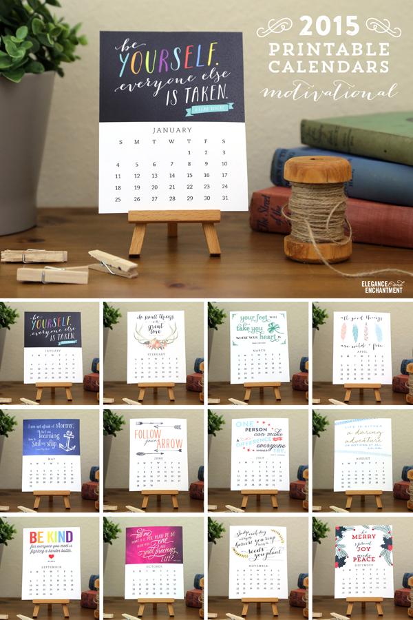 printable desk calendar 2015