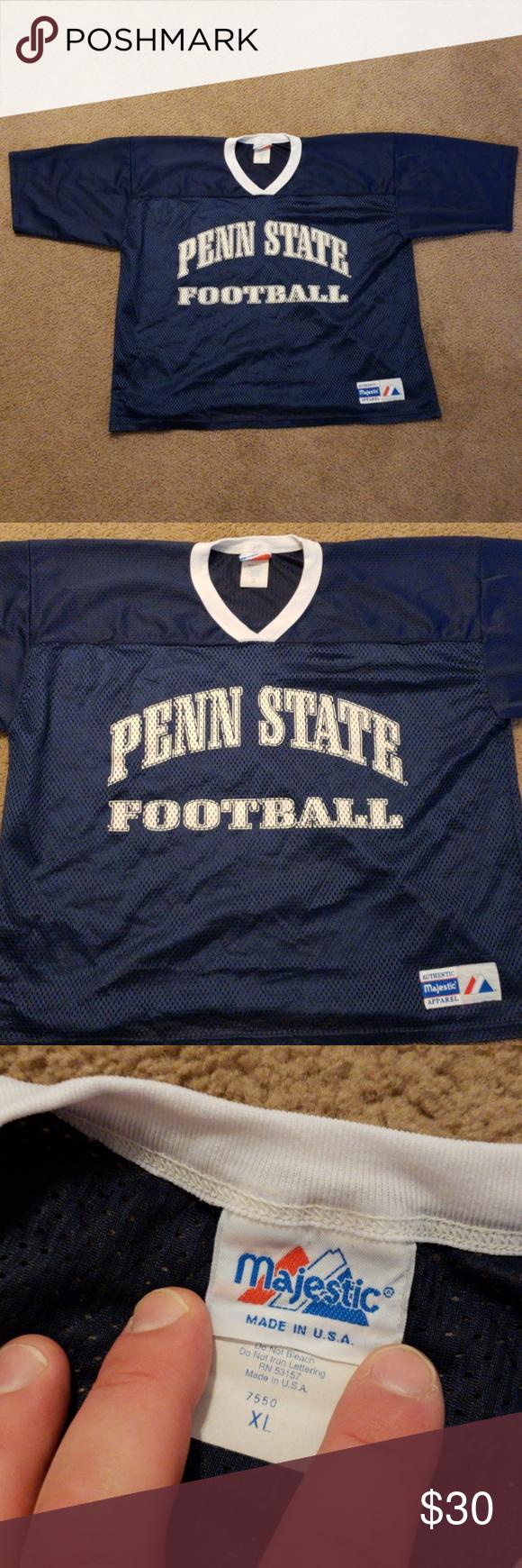bb26f8f1bed VTG Penn State University PSU Football Jersey NCAA Vintage Majestic mens  Penn State University / PSU