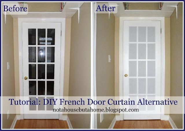 I Think I Could Do Something Like This To Cover The Glass Doors On