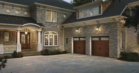 Wonderful Matching Front Door And Garage Door Gives Extra Curb Appeal