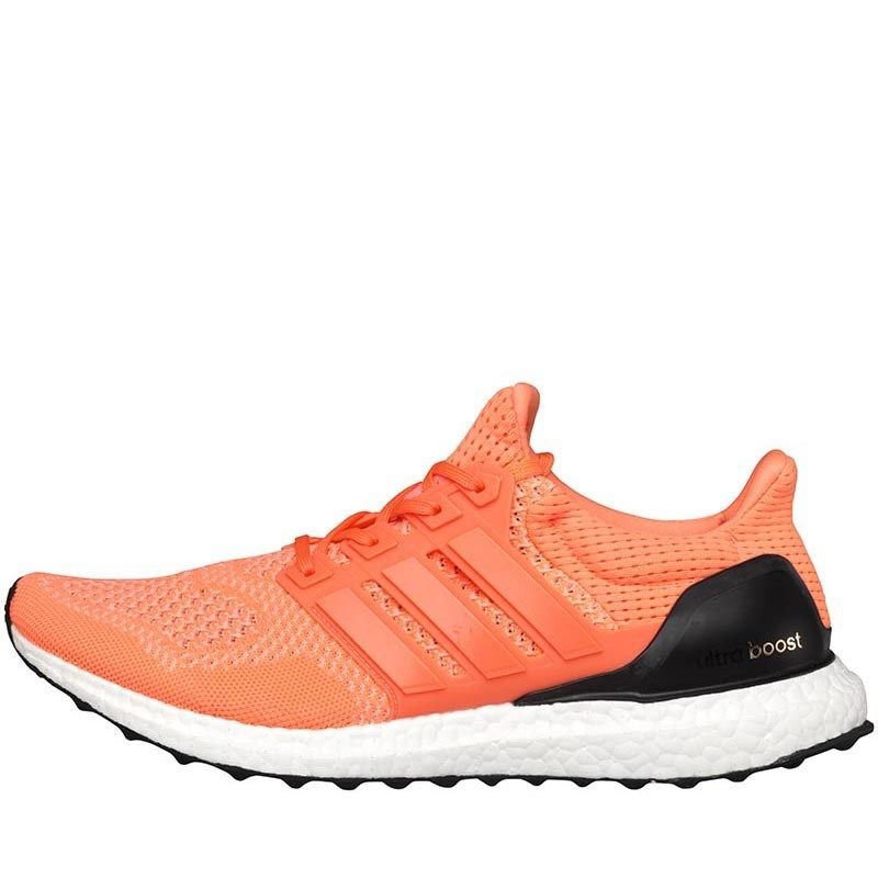adidas Womens Ultra Boost Neutral Running Shoes Flash Orange/Light Flash  Orange
