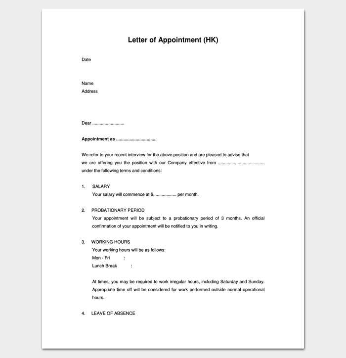 Sample Appointment Letter | Agent Appointment Letter 1 Letter Templates Write Quick And