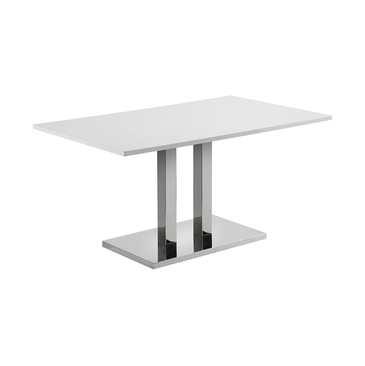 Mesa con sobre de DM lacado #blanco brillo. Pies - base en #acero ...
