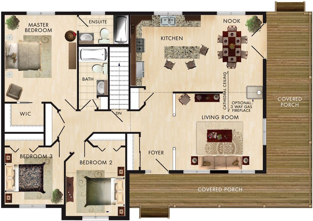 Best Cortland Floor Plan Specs Living Room 15′ 4″ X 13′ 4 400 x 300