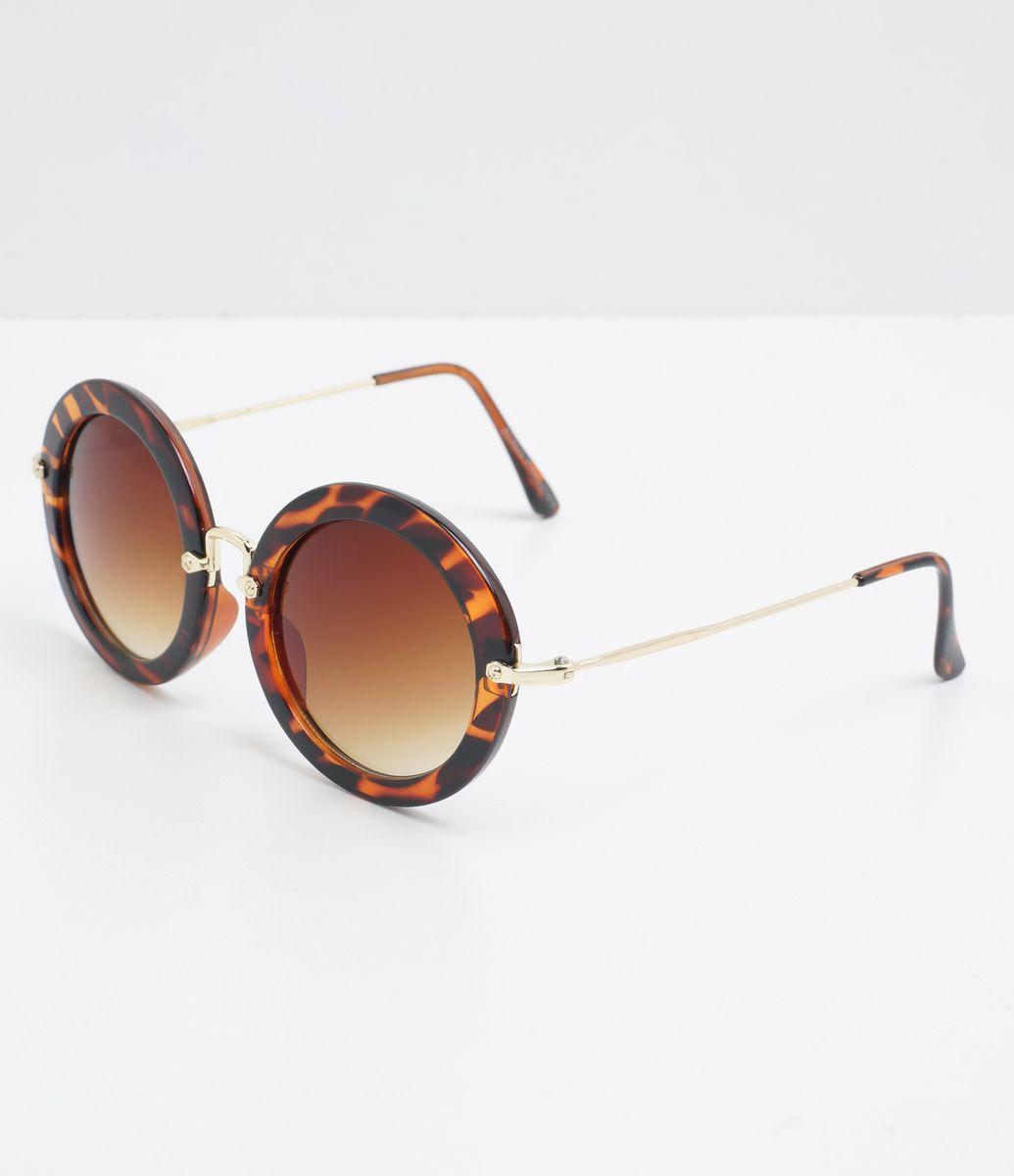 Óculos de sol Modelo redondo Hastes em acetato veludo Lentes marrom degradê  Proteção contra raios UVA 8b3026e365