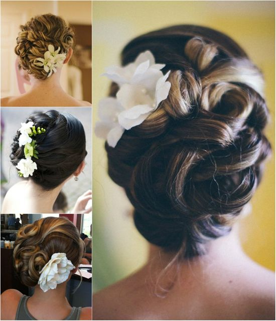 5 easiest wedding updo you can create by yourself wedding updo 5 easiest diy wedding up do hairstyles with hair flowers solutioingenieria Images