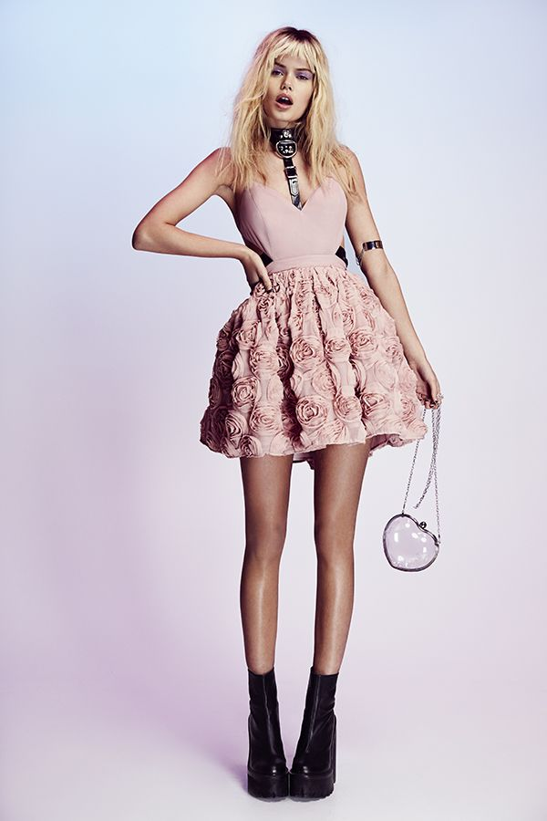 a7f83d047d Nasty Gal Blushing Blooms Dress   Clear Out Shoulder Bag - boots coming  soon!