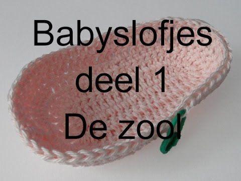 Haak Tutorial Babyslofjes Deel 1 Youtube Baby Toddler Booties