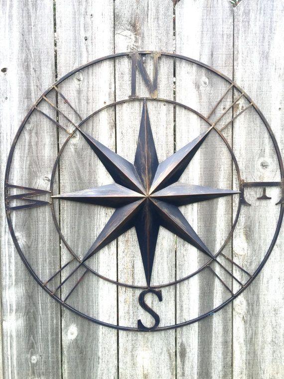 Compass Nautical Decor Navy Blue Compass Compass Wall Art