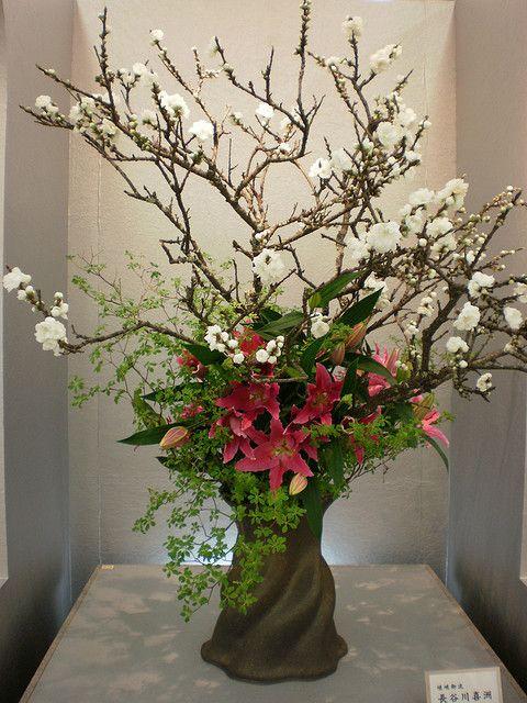 japanese flower arrangement 20 ikebana flower arrangments pinterest. Black Bedroom Furniture Sets. Home Design Ideas