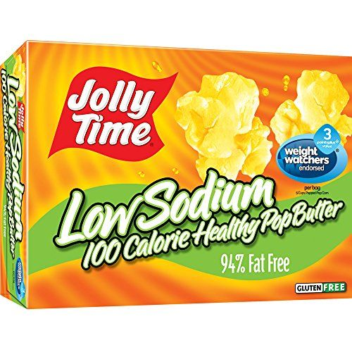 Jolly Time Low Sodium Healthy Pop Butter  100 Calorie Microwave Popcorn Mini Bags 4-Count Boxes 4.8 oz (Pack of 12) Review https://probioticsforweightloss.co/jolly-time-low-sodium-healthy-pop-butter-100-calorie-microwave-popcorn-mini-bags-4-count-boxes-4-8-oz-pack-of-12-review/