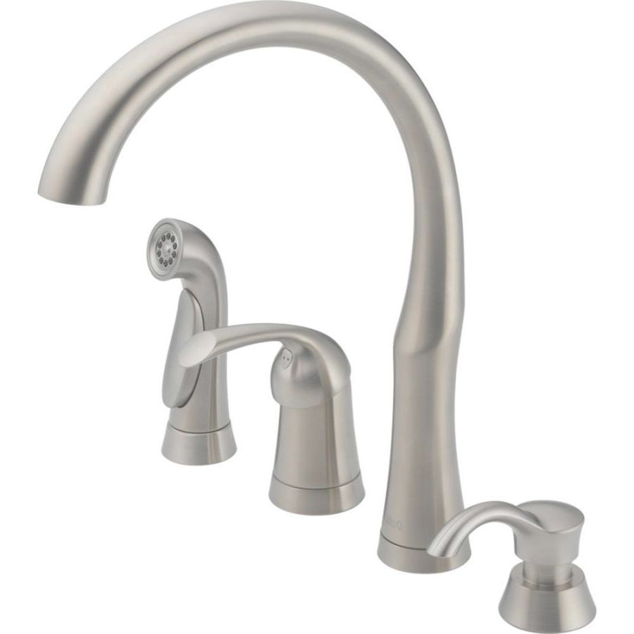 Shop Kitchen Faucets At Lowes inside 4 Hole Kitchen Faucets