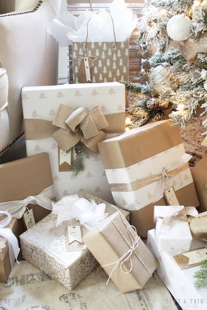 Champagne and White Christmas  Tuft  Trim Blog