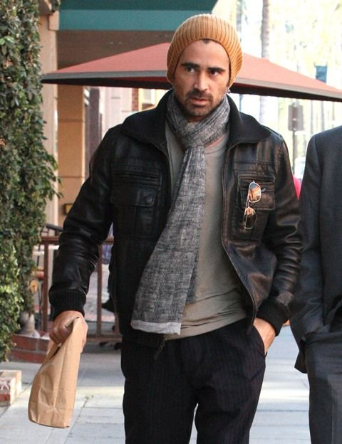 Colin Farrell rocking leather jacket 78b6c1ce199