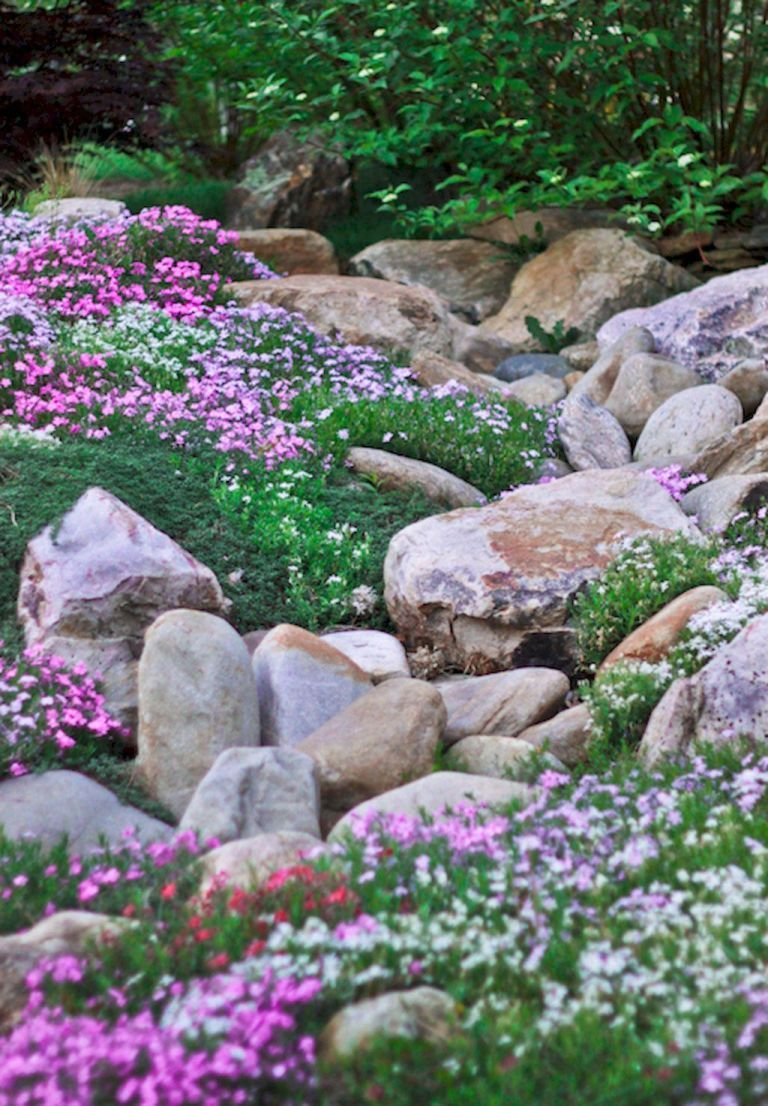 Beautiful front yard rock garden landscaping ideas (1 #steingartenideen