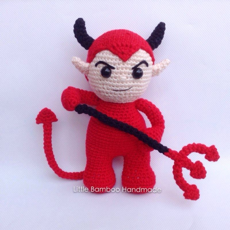 Devil amigurumi pattern by Little Bamboo Handmade