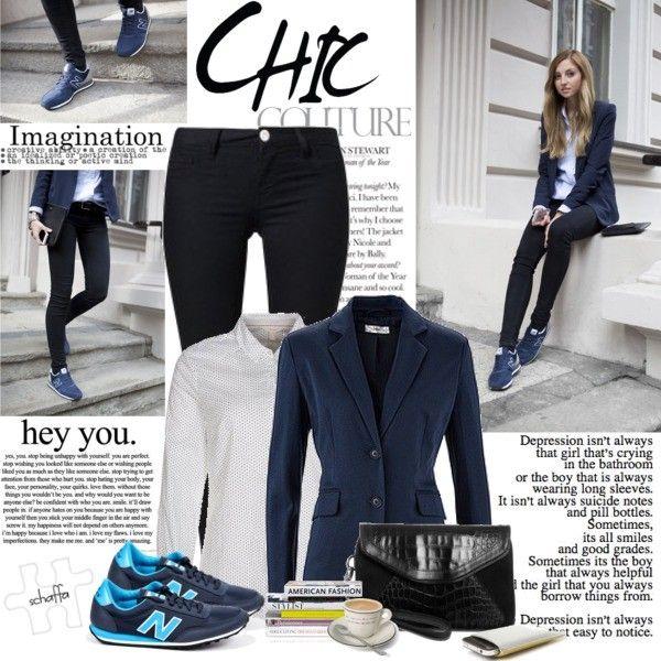 Zestaw Z 17 Marzec 2014 Skladajacy Sie M In Z Marynarka Bonprix Buty Sportowe New Balance Bluzka Esprit Clothes How To Wear Outfits