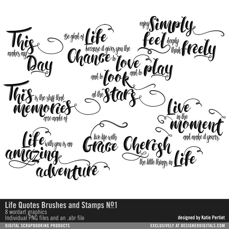 Life Quotes Brushes and Stamps No. 01 abr