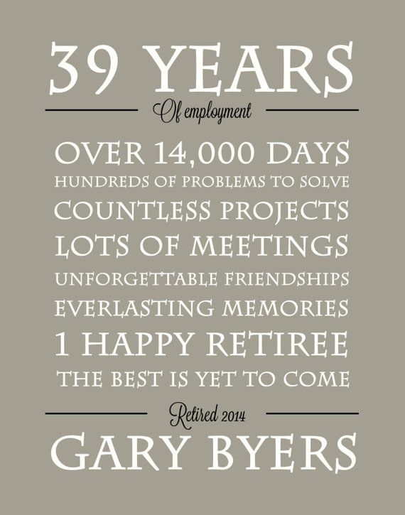 Retirement gift/print - retirement Poster- Retirement party