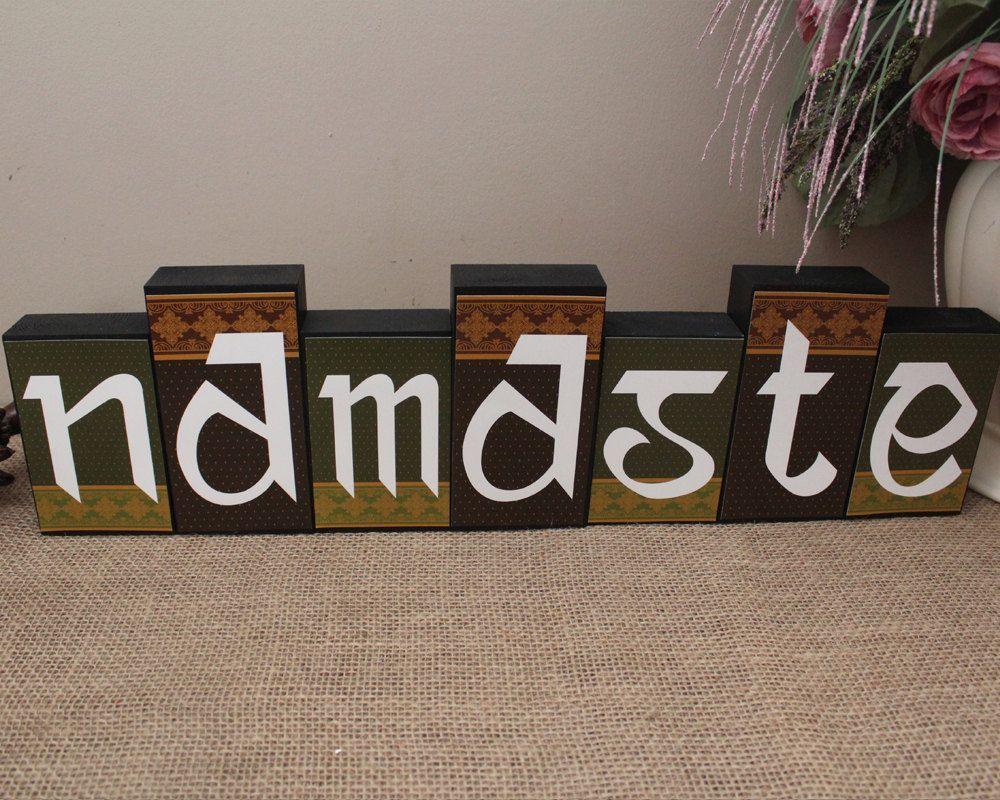 Gentil Namaste Sign, Wood Decor, Namaste Wood Sign, Sanskrit Namaste, Indian Home  Decor