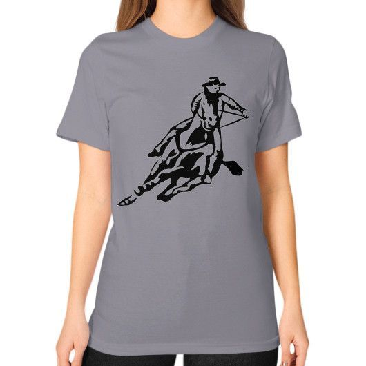 Western Rider - Unisex T-Shirt (on woman)