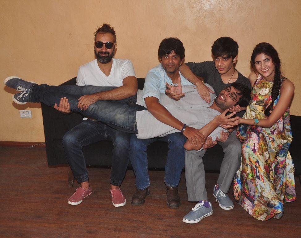 Ranvir Shorey, Amit Sial, Shashank Arora, Shivani Raghuvanshi and Kanu Behl at the press meet of Titli