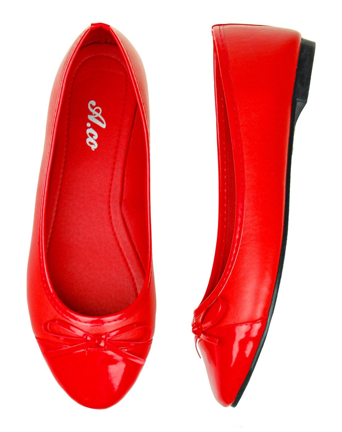 These red ballerina flats go with any outfit, from casual to formal!
