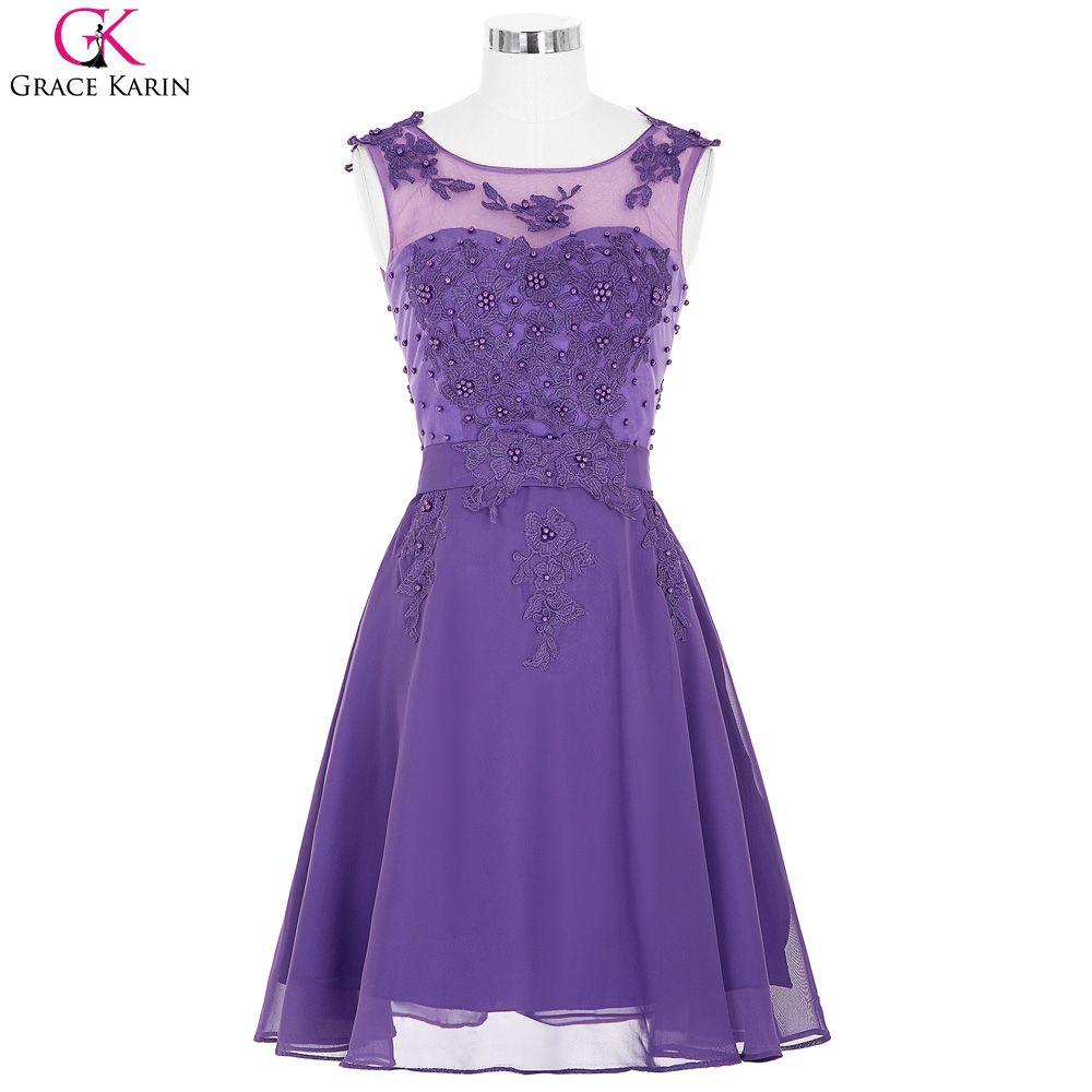 Free shipping buy best purple short bridesmaid dresses under