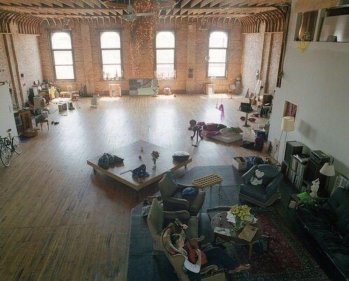 Open studio brick apartment