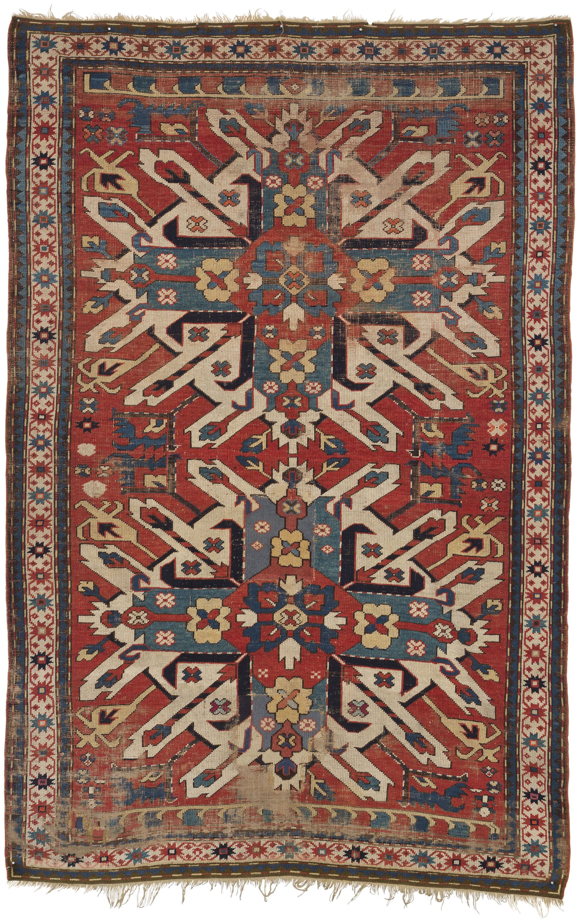 An Eagle Kazak Rug South Caucasus Circa 1880 Approximately 6 Ft 11 In X 4 Ft 8 In 211 Cm X 142 Cm Rugs Rugs On Carpet Asian Rugs