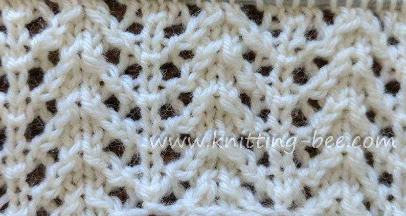 Chevron Rib Lace Free Knitting Stitch By Httpknitting Bee