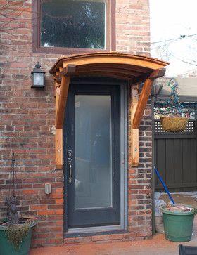 Curved Cedar Awning Craftsman Spaces Toronto Brendan Fenn