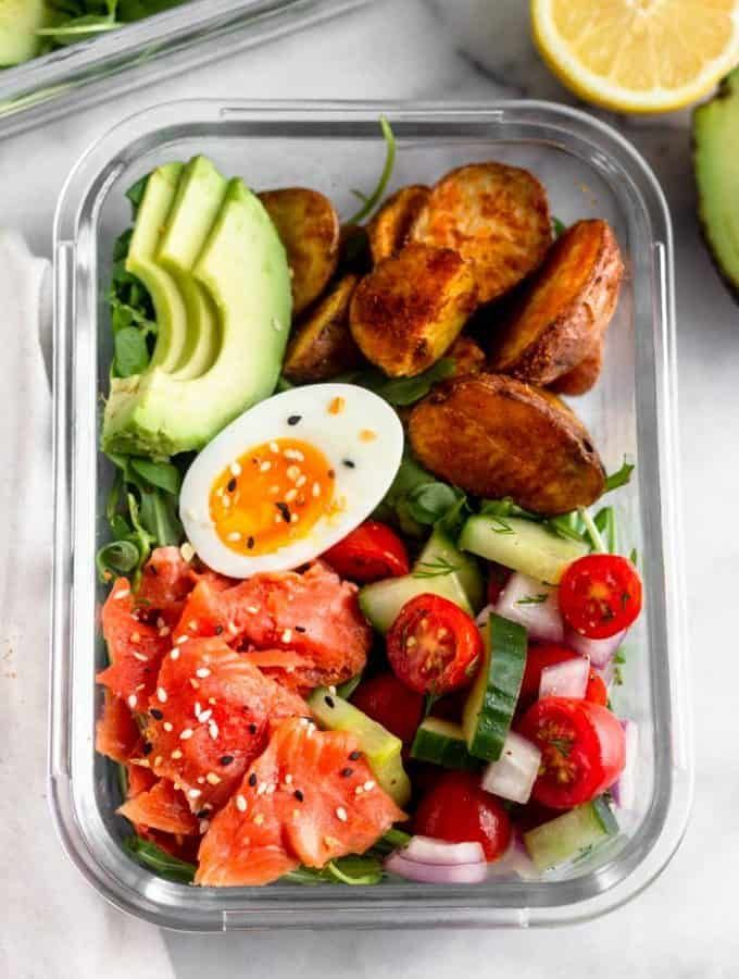 Meal Prep Smoked Salmon Breakfast Bowls (Paleo/Whole30) images