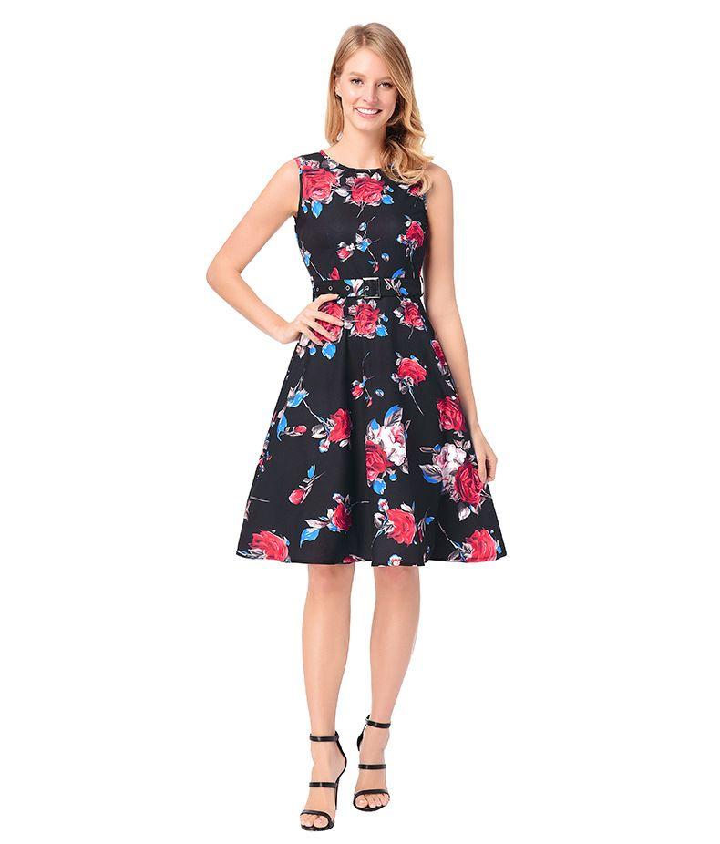 Flower Printed Women Dresses f8cc3184b