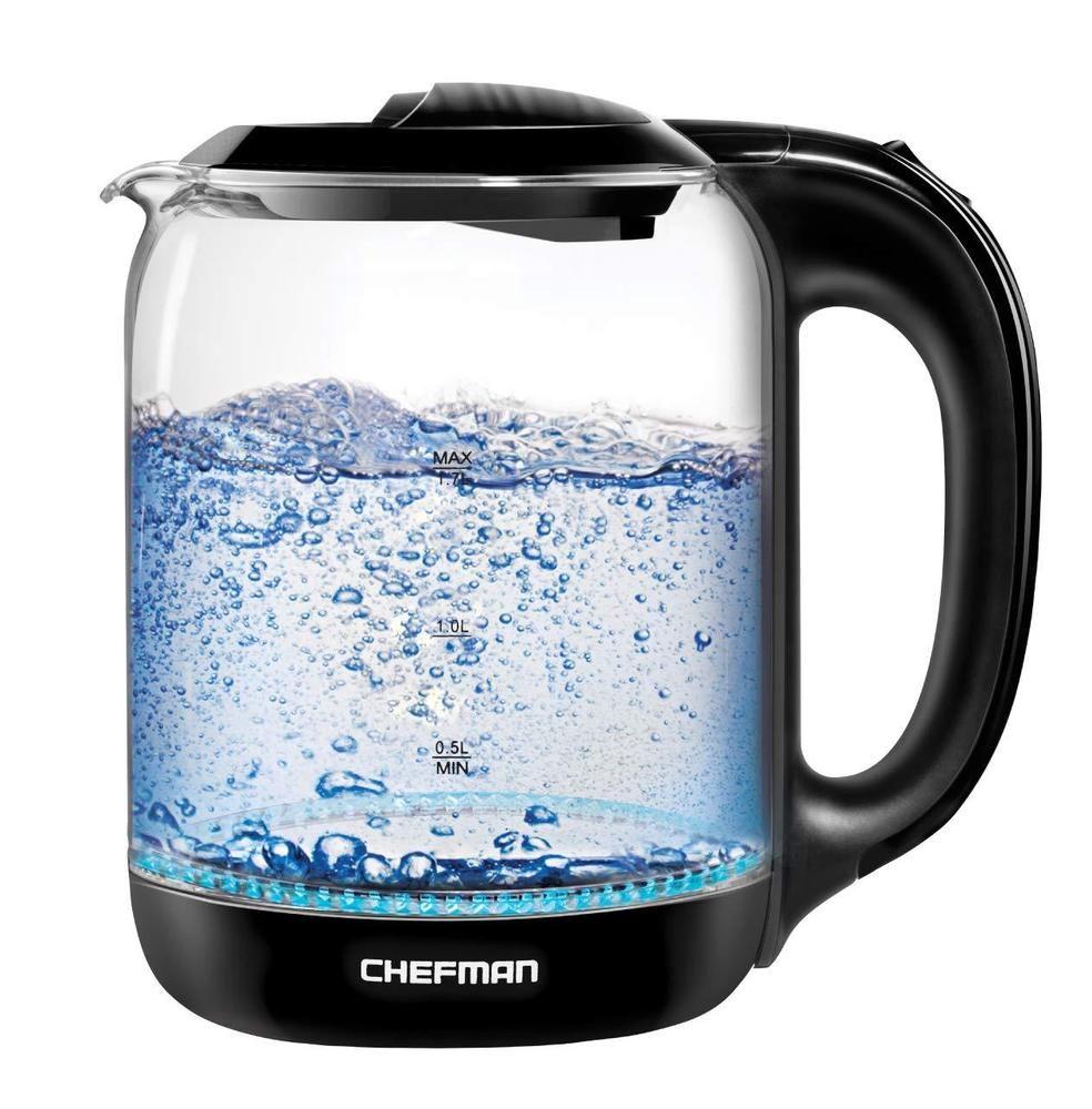 Chefman Electric Cordless Glass Tea