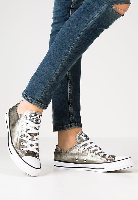 3822427d003c3 Converse CHUCK TAYLOR ALL STAR - Baskets basses - metallic herbal white  black - ZALANDO.FR