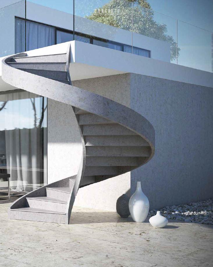 Escalera de caracol helicoidal de cemento para exterior CONCRETE