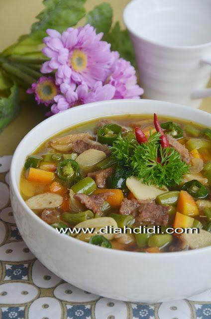 Diah Didi S Kitchen Asem Asem Daging Buncis Dari Semarang Masakan Resep Daging Resep Masakan Indonesia