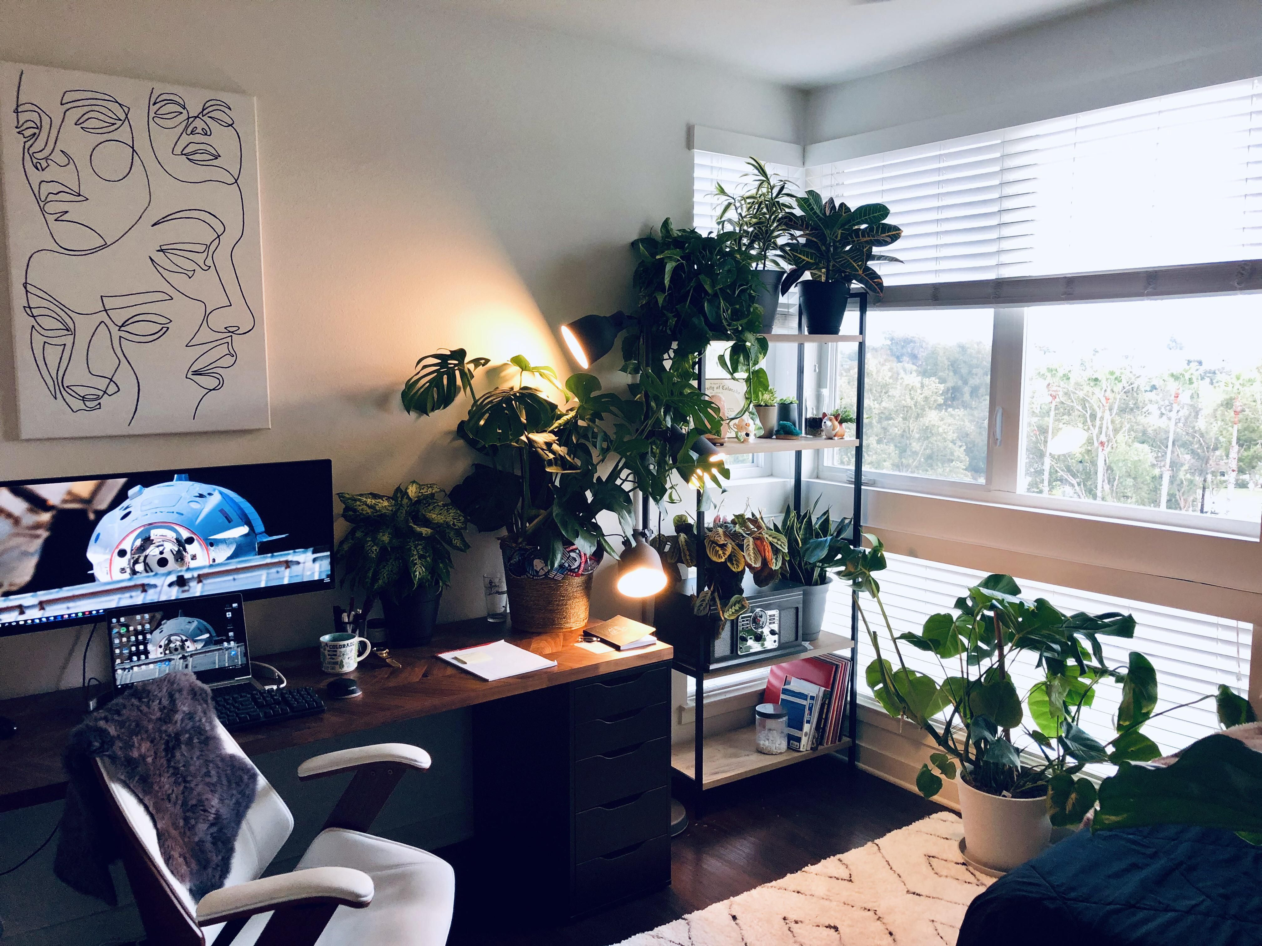 My First Bedroom Office As A Post Grad In Sunny Los Angeles One Bedroom Bedroom Office Man Room