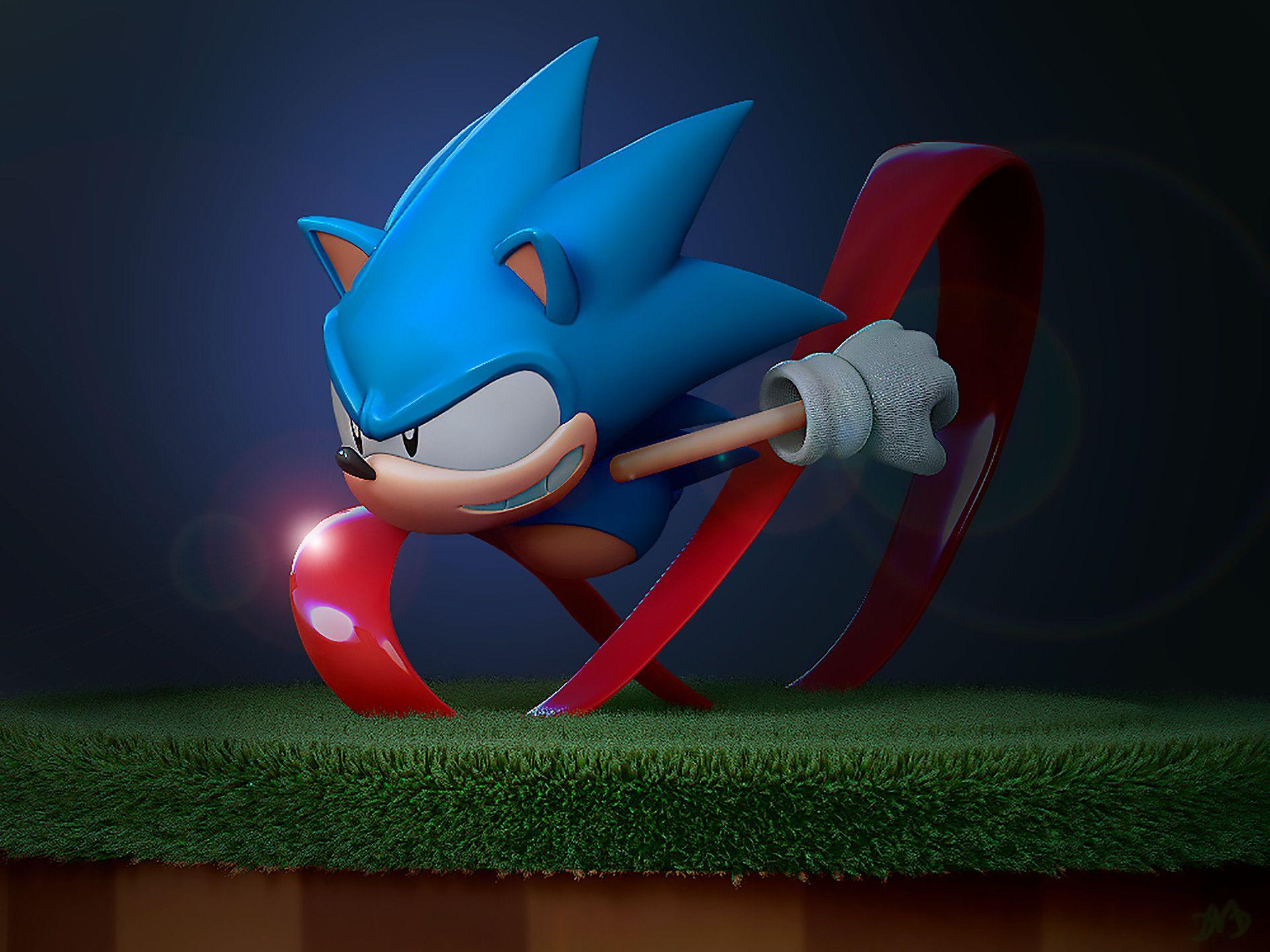 Artstation Sonic Toei Animation 3d Model Douglas Matias Duarte Sonic Classic Sonic Sonic Art