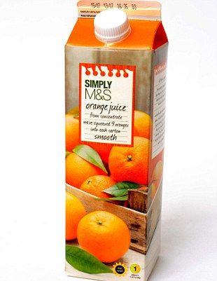 SIMPLY M&S Orange juice