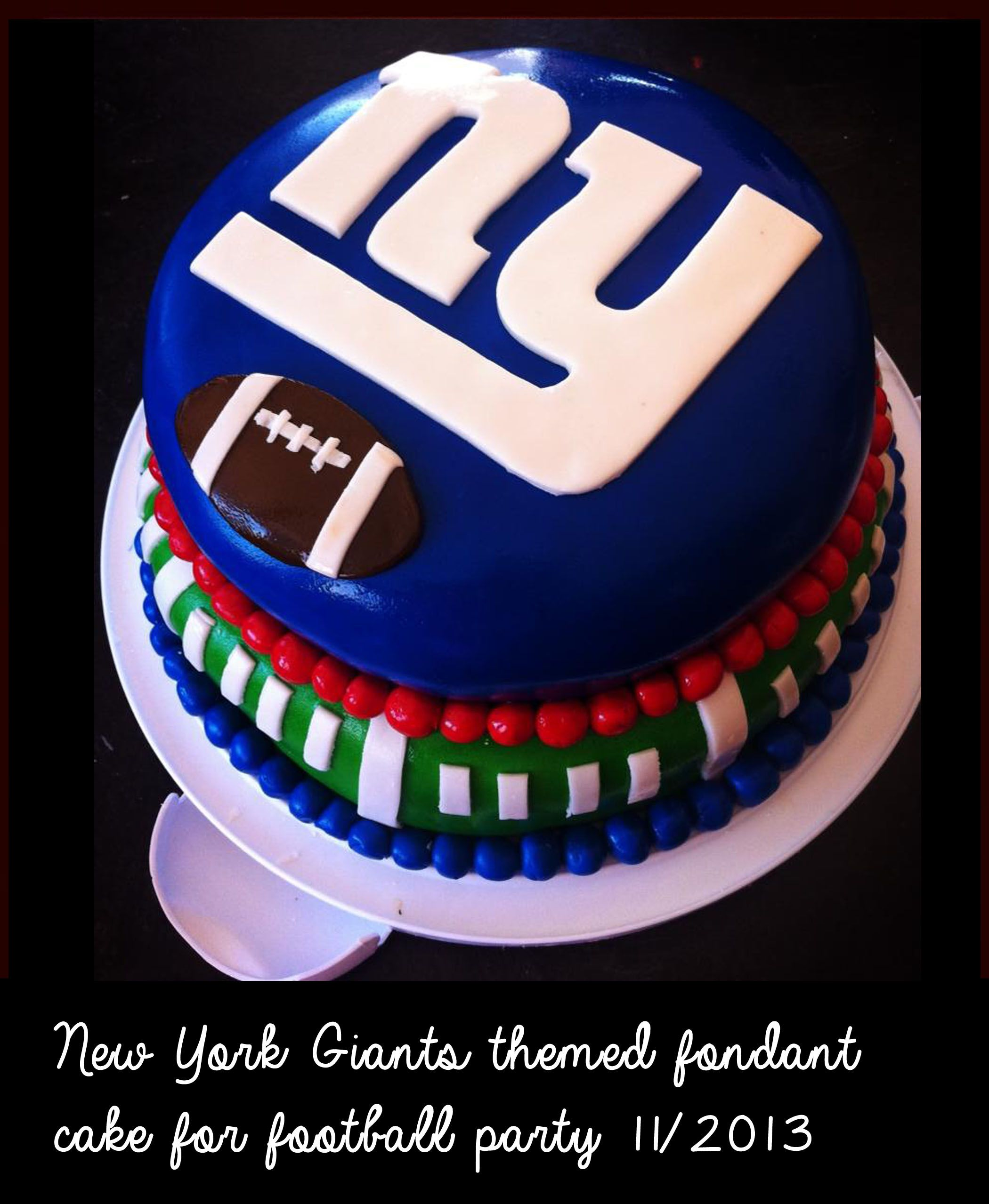 NY Giants Cake #NYGiants #Giants #fondant #cakes | New York Giants ...