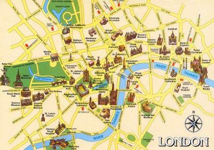 Mapa Turístico De Londres.Mapa Turistico De Londres En 2019 Londres Mapa Londres