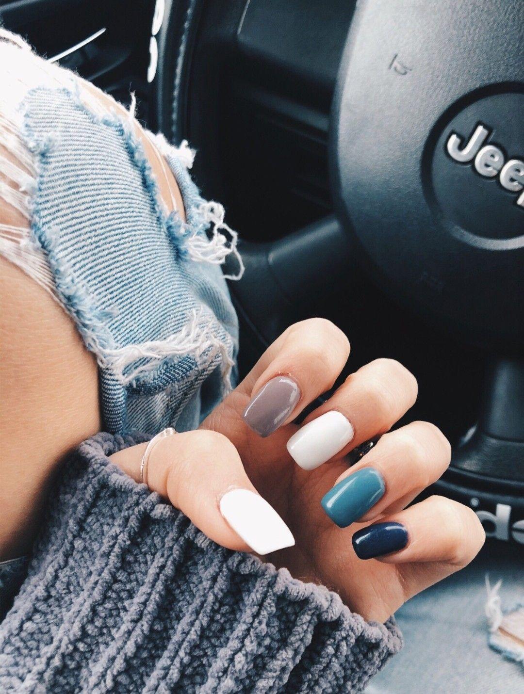 Strangertumblr Nails Acrylic Colorful Cute Vibes Vsco Instagram Aesthetic Tumblr Style Fashio Pretty Acrylic Nails Cute Acrylic Nails Nail Designs