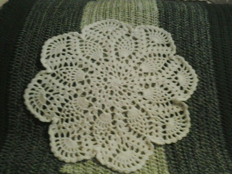 I crochet this for my moms chairs headrest for Christmas.. the pattern i used is the next post in my crochet board.. Linda KWS