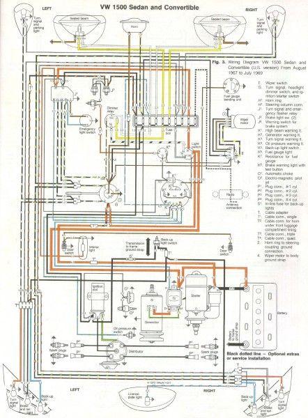 1969 Vw Beetle Wiring Diagram #vintage #volkswagens | VW