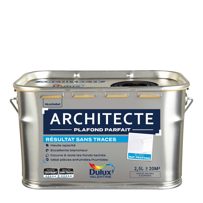 Peinture Blanc Plafond Sans Trace Architecte Dulux